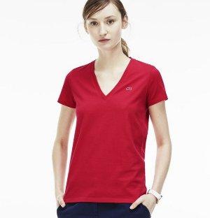 $24.99($50)Lacoste Women's Jersey Cotton V-Neck T-Shirt