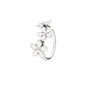 PANDORA Silver Enamel Darling Daisies Ring