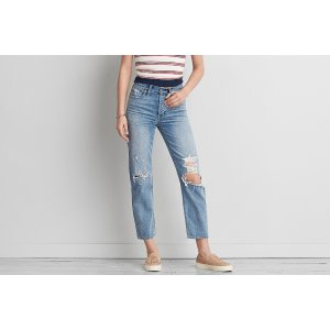 Vintage Hi-Rise Straight Crop, Cool Classic | American Eagle Outfitters