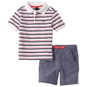 Nautica Boys' 2pc Polo Set