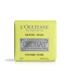 Natural based soap for men with fresh scent | Cedrat Soap L'Occitane