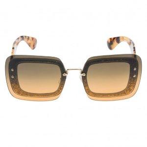 Miu Miu Reveal Women's Sunglasses Tortoise Shell Frame Brown Gradient Lenses | Focus Camera