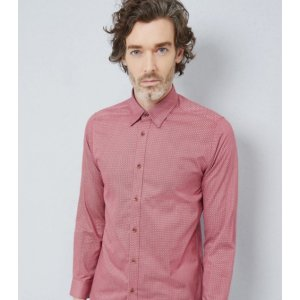 POLSERF Geo print cotton shirt