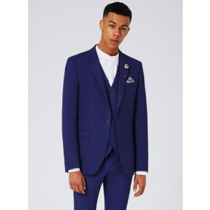 Deep Blue Textured Ultra Skinny Fit Suit