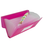 C-Line C-Line 13-Pocket Poly Expanding File, 10 x 5 Inches, Junior Size for Receipts and Checks, Includes Tabs, 1 File, Color May Vary (58710)