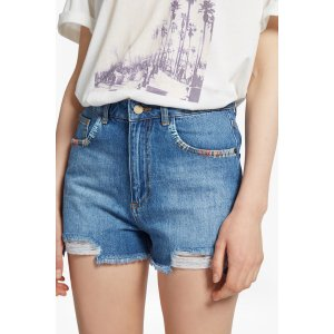 Rufaro Stitch Frayed Denim Shorts