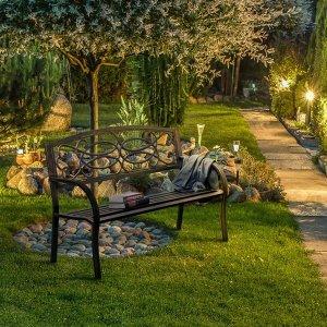 Furniture of America Flints Bronze Iron Outdoor Garden Bench - Free Shipping Today - Overstock.com - 16597365