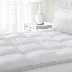 Superior All Season Down Alternative Hypoallergenic White Mattress Topper | Overstock.com Shopping - The Best Deals on Down Alternative Fiber Beds