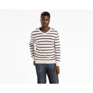 Classic V-Neck Sweater   Heather Grey Stripe  Levi's® United States (US)