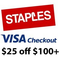 $25 off $100Staples Electrics and Computer Parts On Sale