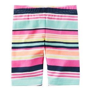 女幼童条纹短裤