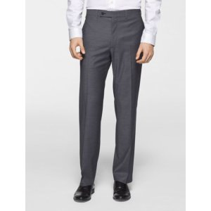 x fit ultra slim fit light grey sharkskin suit pants | Calvin Klein