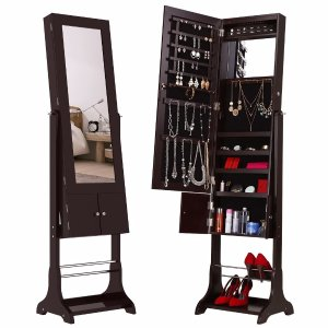 25% offLANGRIA Lockable Mirrored Jewelry Cabinet