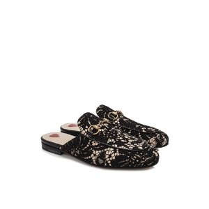Gucci Princetown Lace Slippers