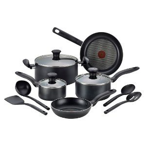 T-fal Simply Cook Nonstick C518SC Dishwasher Safe Cookware 12 Pc Set : Target