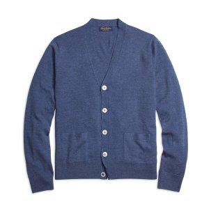 Men's Saxxon Wool Button-Front Cardigan | Brooks Brothers