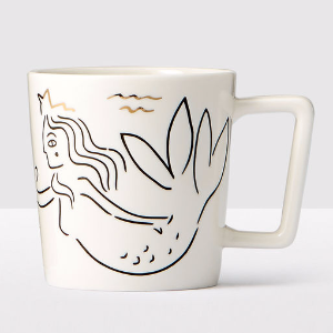 Siren at Sea Anniversary Collection White Ceramic Mug