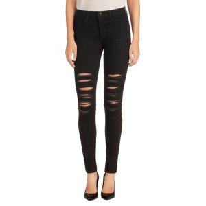 23110 Maria High-Rise Skinny in Black Heart | Petite Jeans | J Brand