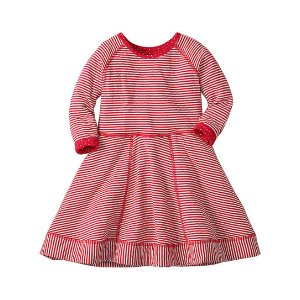 Hanna Andersson Apple Red Dot & Stripe One Equals Two Reversible Dress | zulily