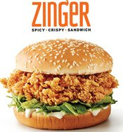 New KFC Item Coming Zinger Spicy Chicken Sandwich @  KFC