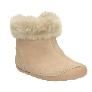 Little Bounce Baby Natural Suede - Girls Boots - Clarks® Shoes Official Site