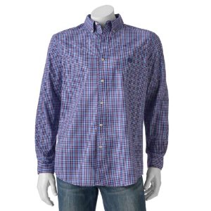 Men's Chaps Classic-Fit Medium Beacon Plaid Button-Down Shirt