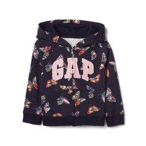Butterfly logo raglan zip hoodie