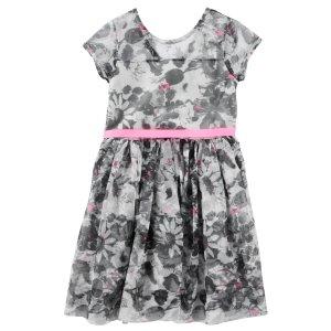 Baby Girl 2-Piece Printed Tulle Dress   OshKosh.com