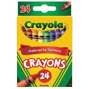 $0.50Crayola 绘儿乐彩色蜡笔24支