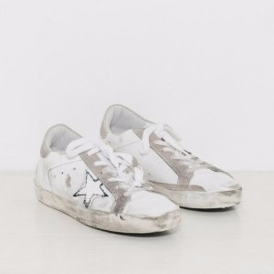 Golden Goose Sneakers Superstar in Ripped Off White