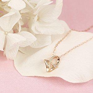 $63.6 / RMB421.1 直邮中美CHIARO DI DIAMANTE 闪钻 甜美镂空 心形项链 限时特价