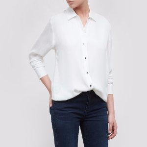 LONG-SLEEVE BUTTON-FRONT TOP | Kenneth Cole