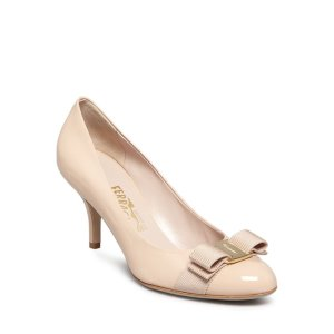 Salvatore Ferragamo Carla Bow Kitten Heel Pumps | Bloomingdale's