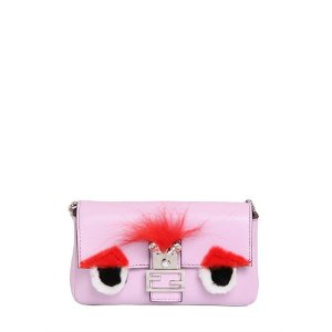 FENDI - MICRO BAGUETTE MONSTER LEATHER BAG