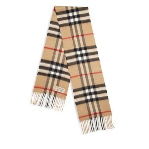 Kid's Explode Check Cashmere Scarf