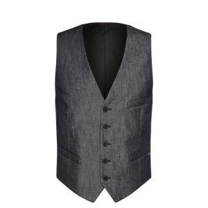 'Bacer' | Slim Fit, Stretch Cotton Blend Denim Vest