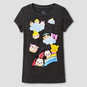 Girls' Disney® T-shirt - Charcoal Heather : Target