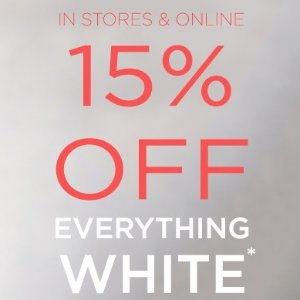 15% OffWhite Haute Sale @ South Moon Under