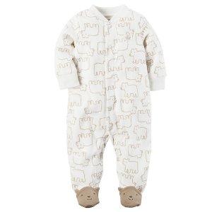 Bear Snap-Up Fleece Sleep & Play