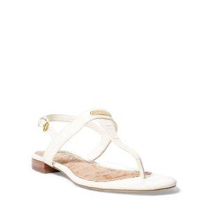 Valla Croc-Embossed Sandal