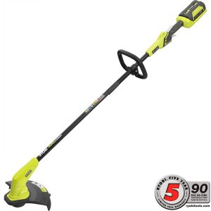 Ryobi 40-Volt Lithium-Ion Cordless String Trimmer - 1.5 Ah Battery and Charger Included-RY40240 - The Home Depot