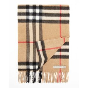 Burberry Reversible Metallic Check Scarf | Bloomingdale's