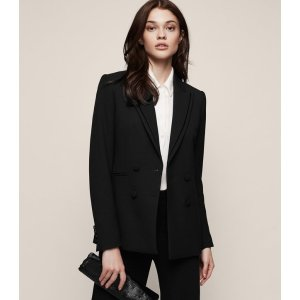 Ethie Double-Breasted Blazer - REISS