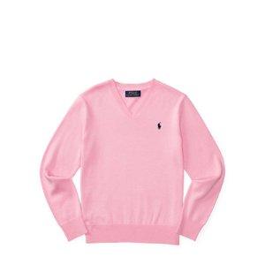 Cotton V-Neck Sweater - Sweaters � Boys' 8-20 - RalphLauren.com