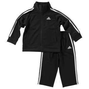 adidas Tricot Set - Boys' Infant - Casual - Clothing - Black
