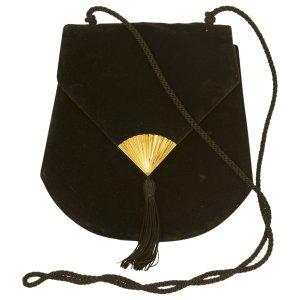 black Plain Velvet YVES SAINT LAURENT Handbag - Vestiaire Collective