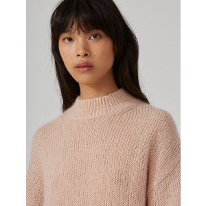 Mohair-Wool-Blend Sweater in Dusty Pink