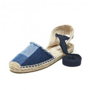 Soludos Patchwork Classic Sandal in Denim - Soludos Espadrilles