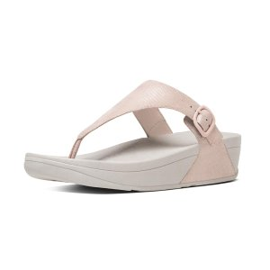 FitFlop The Skinny Lizard-Print Toe-Thong Sandals Nude PinkFitFlop Official Online Store