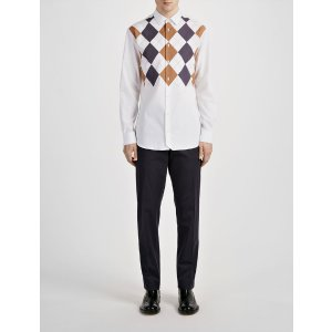 Argyle Shirt John Shirt in White | JOSEPH
